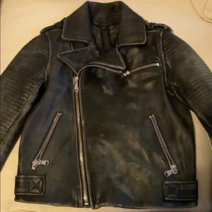 Marc by Marc Jacobs Distressed Leather Moto Jacket
